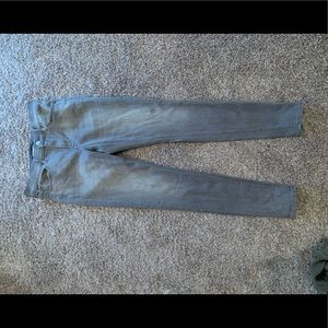 Express grey stretch jeans